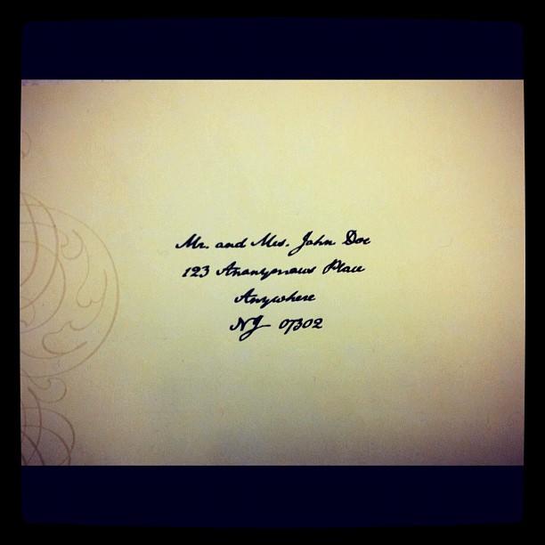 DIY Calligraphy : Addressing Wedding Envelopes