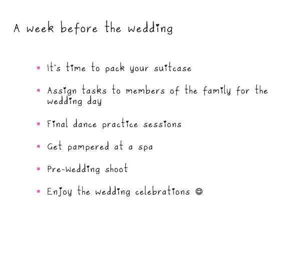 Wedding Checklist | The Diary of A Mad Bride